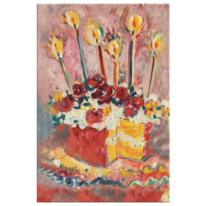 "Happy Birthday Kitchen Cake on 1.25"" Wrapped Canvas"