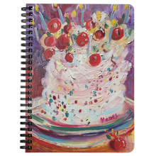 Load image into Gallery viewer, Cherry Funfetti Spiral Notebook