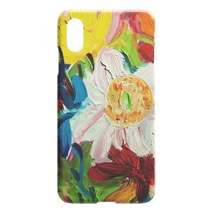 White Poppy Close Up iPhone Case