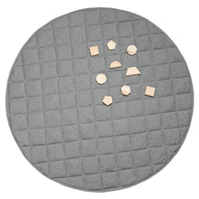 Load image into Gallery viewer, Jersey Quilted Play Mat (Waterproof Backing) - Grey