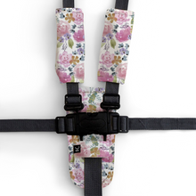 Load image into Gallery viewer, 3 Piece Harness Cover Set - Floral Delight - Outlook Baby