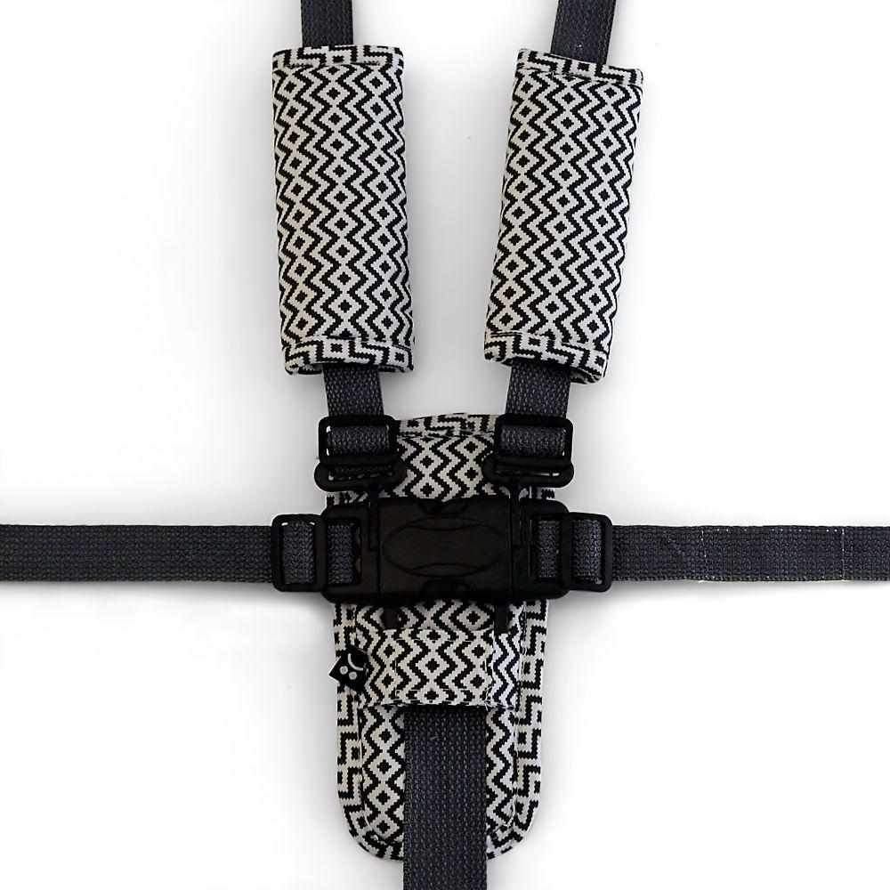 3 Piece Harness Cover Set - Charcoal Aztec - Outlook Baby