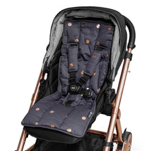 Load image into Gallery viewer, 3 Piece Harness Cover Set - Charcoal/Rose Gold Spots - Outlook Baby