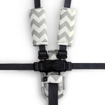 3 Piece Harness Cover Set - Grey Chevron - Outlook Baby