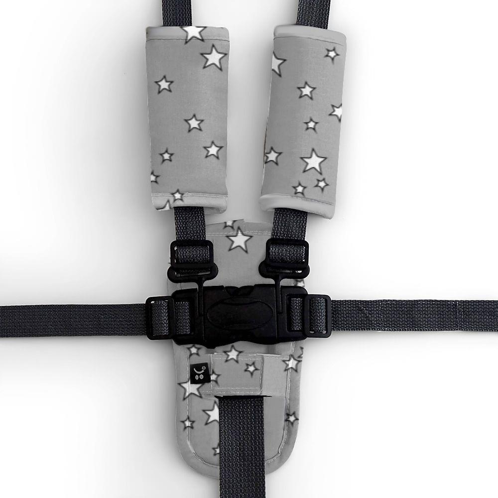 3 Piece Harness Cover Set - Grey Stars - Outlook Baby