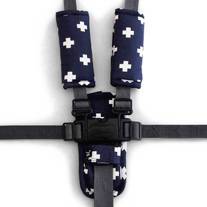 3 Piece Harness Cover Set - Navy Crosses - Outlook Baby