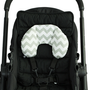 Head Hugger Neck Support - Grey Chevron - Outlook Baby