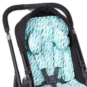 Head Hugger Neck Support - Teal Drops - Outlook Baby