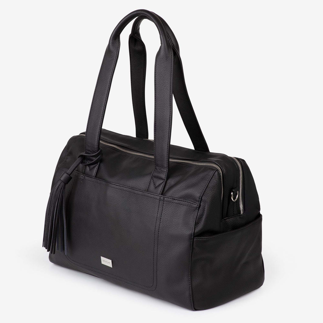 NEW! Kahlo Holdall 2-Compatment Nappy Bag - Black RRP $199.95