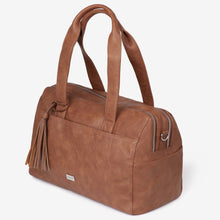 Load image into Gallery viewer, NEW! Kahlo Holdall 2-Compatment Nappy Bag - Tan RRP $199.95