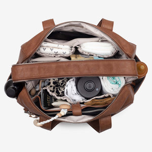 NEW! Kahlo Holdall 2-Compatment Nappy Bag - Tan RRP $199.95