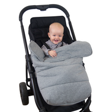 Load image into Gallery viewer, Universal Stay-Put Pram Quilt/Footmuff - Light Grey - Outlook Baby