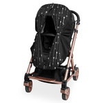 Foil Print Sleep Eazy - Black/Silver Arrows - Outlook Baby