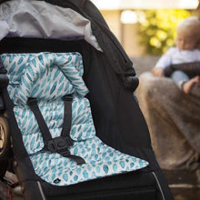 Load image into Gallery viewer, Pram Liner with built in head support - Teal Drops - Outlook Baby