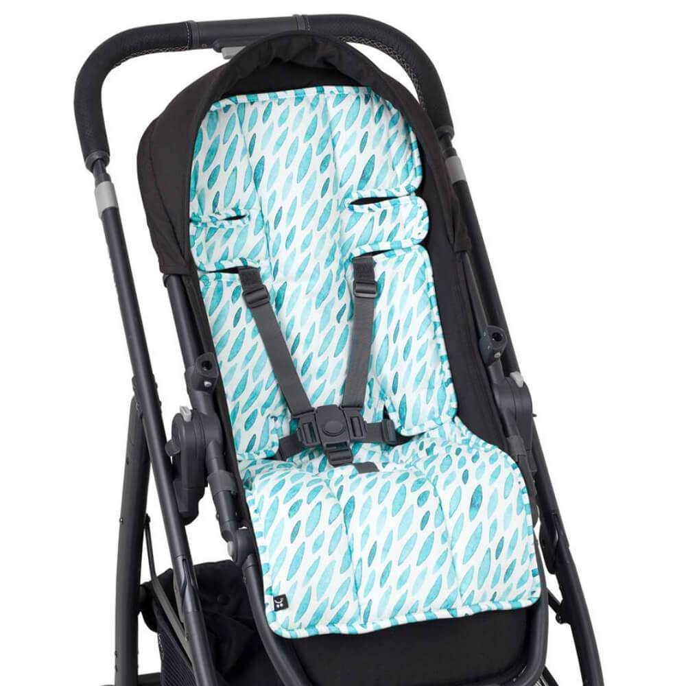 Pram Liner - Teal Drops - Outlook Baby