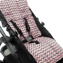 Load image into Gallery viewer, Pram Liner - Pink Mini Chevron - Outlook Baby