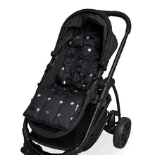 Load image into Gallery viewer, Pram Liner - Black Silver Arrows/Spots - Outlook Baby