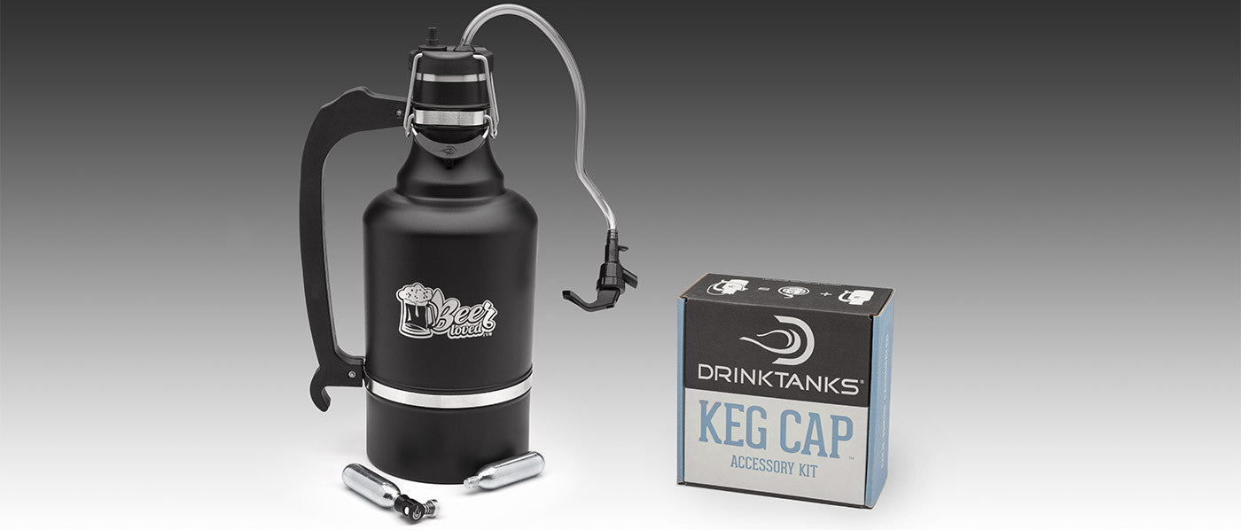 BEERloved Juggernaut Growler With Keg Cap Kit