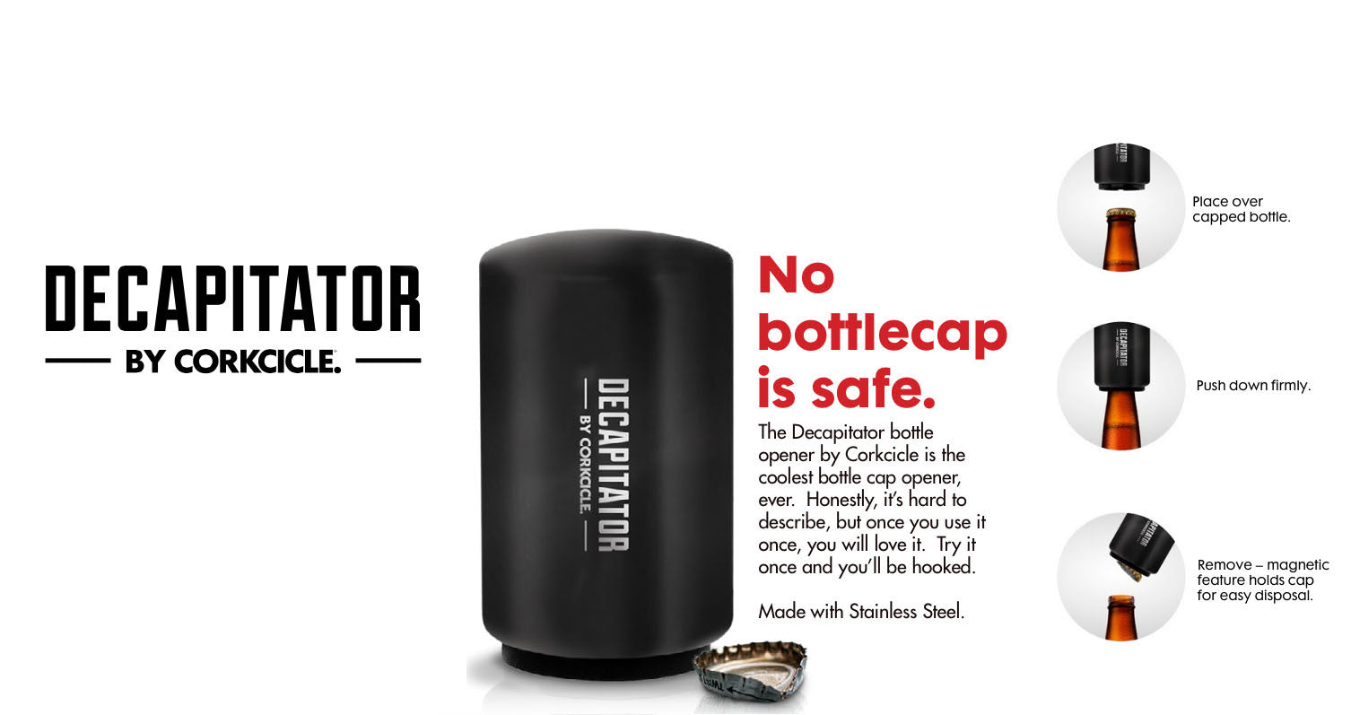 Decapitator - The Ultimate Bottle Opener and Cap Saver