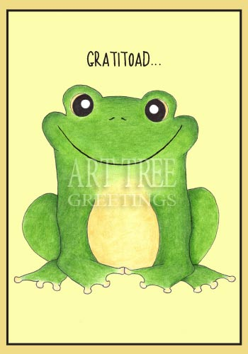 Grateful Toad: Whimsical Paper Thank You Card