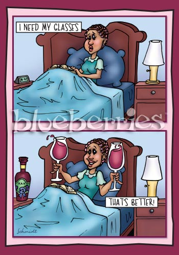 Wine Glasses: Hilarious Paper Birthday Card
