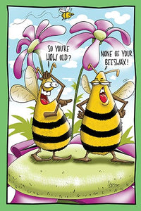 Bees Talking About Age | Funny Birthday Card