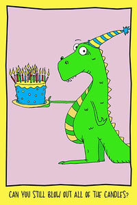Blowing Out Candles | Humorous Birthday Card