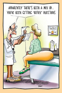 Botox Injections in the Buttocks | Funny Birthday Card