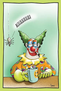 Spider is Terrified by a Clown | Funny Birthday Card