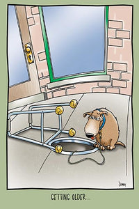 Dog Looking into a Manhole | Funny Birthday Card