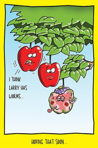 Apple With Worms | Hilarious Get Well Card