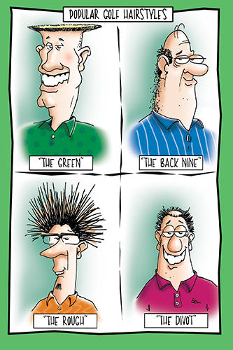 Golf Hairstyles | Funny Birthday Card