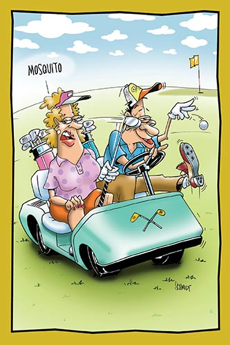 Woman Hits Man with Golf Club | Anniversary Card