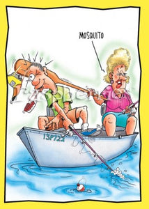 Mosquito: Hilarious Printed Fishing Anniversary Card