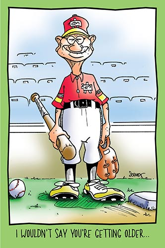 Old Guy In Baseball Uniform | Funny Birthday Card