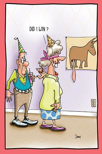 Pin The Tail On The Donkey | Hilarious Birthday Card