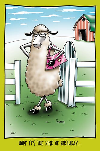Sheep has Sheared Her Legs | Funny Birthday Card
