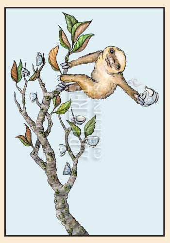 The Sloth | Whimsical Friendship Card