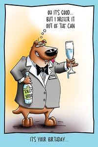 Dog Drinking Toilet Water | Humorous Birthday Card
