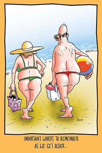 Old Couple Wearing Thongs | Hilarious Birthday Card