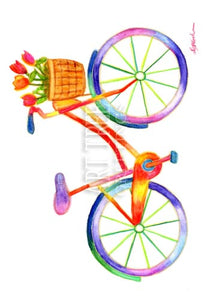 Watercolor Bicycle | Whimsical Birthday Card