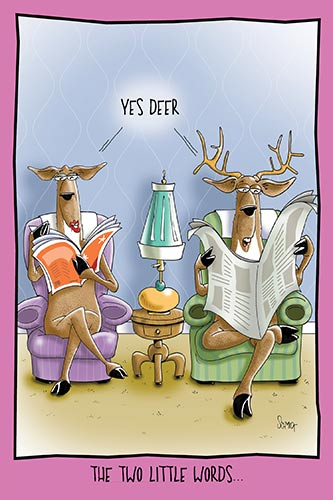 Yes Deer | Hilarious Anniversary Card