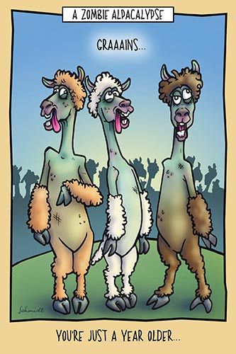Zombie Alpacalypse | Hilarious Birthday card