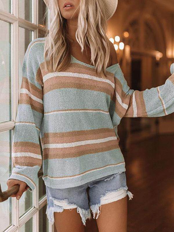 Jolimall Piece Of Cake Stripe Knit Sweater