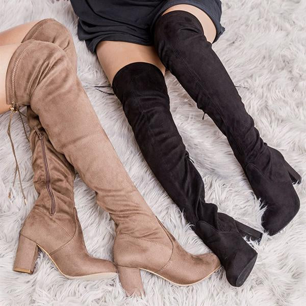 Jolimall Adjustable Thigh High Boots