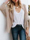 Jolimall Casual Asymmetric Batwing Plus Size Knitted Cardigan