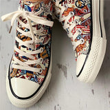 Jolimall Print Lace-Up Casual Sneakers