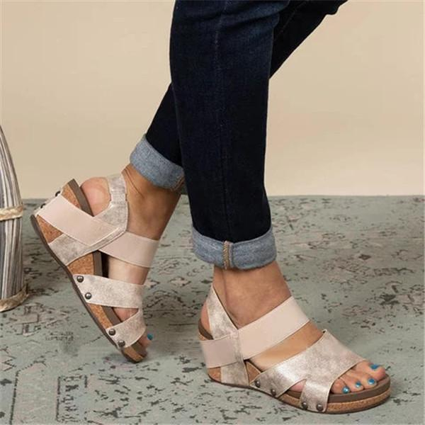 Jolimall Comfy Slip-on Wedge Sandals