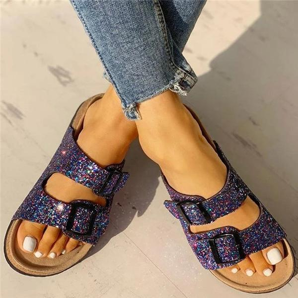 Jolimall Flip Flop Flat With Buckle Slip-On Summer Casual Slippers