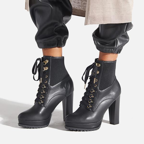 Jolimall Jolimall Ayah Lace Up Bootie